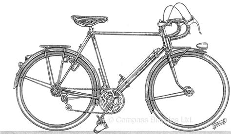 Road Bicycle Outline by Daniel Rebour The Beaten Path