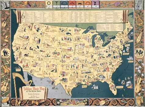 map of the united states song 7 best images about illustrated maps on pinterest posts