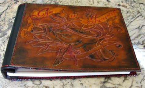 tattoo artist portfolio made custom leather artists portfolio album by