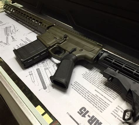 east county guns elma wa aero precision m5 ar10 cerekoted by gh coatings in magpul green and built by east county guns
