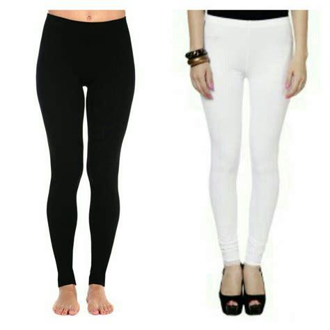Ready Sis Legging Legging Polos Celana Legging Murah jual sale celana legging leging ketat polos black hitam white putih murah widjaja shop