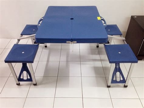 foldable table and chair set malaysia r foldable aluminium plastic picnic table and chairs
