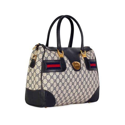 Gucci Boston Bag gucci vintage blue gg web boston bag luxity