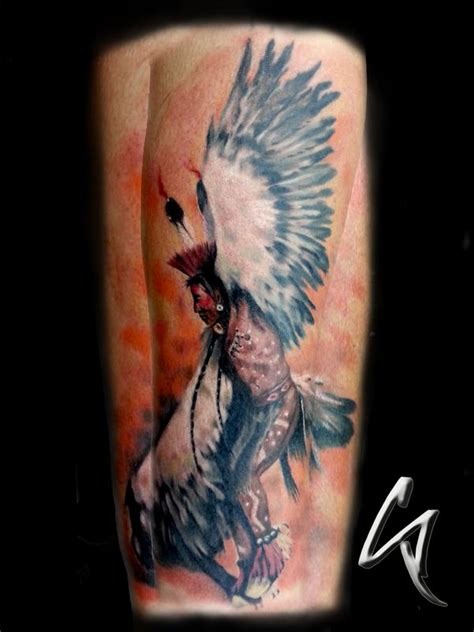 altered images tattoo indian chief by chad pelland tattoos
