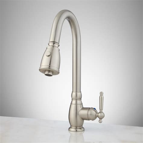 single hole kitchen faucets caulfield single hole pull down kitchen faucet kitchen