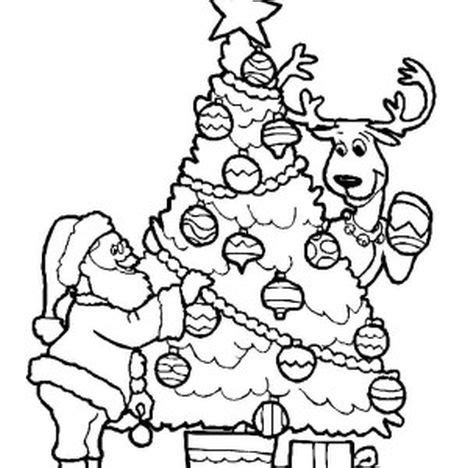 Santa And Reindeer Coloring Pages Part 1 Coloring Pages Santa And Reindeer