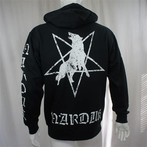 Jaket Sweater Hoodie Zipper Wolfskin Wolf Skin marduk zipup hoodie wolf logo merch2rock alternative clothing