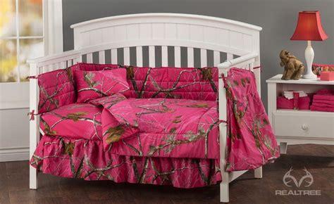 Realtree Apc Fuchsia Crib Bedding Collection Showcases Realtree Pink Camo Crib Bedding