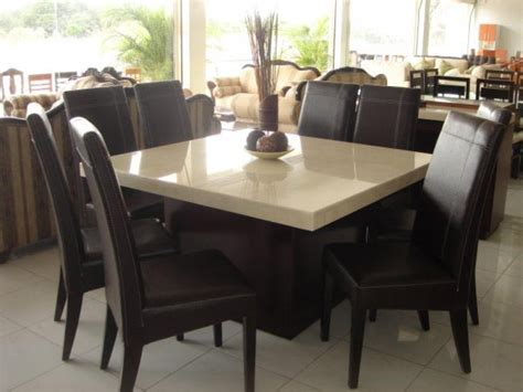 8 person square dining table