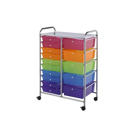 8 drawer rolling cart michaels buy the darice 174 rolling craft storage cart 15 drawers at