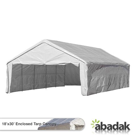 Awning Tarp by 18 X 30 Tarp Tent Canopy Enclosed