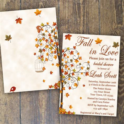 Fall In Bridal Shower by Fall Bridal Shower Invitation Fall In By