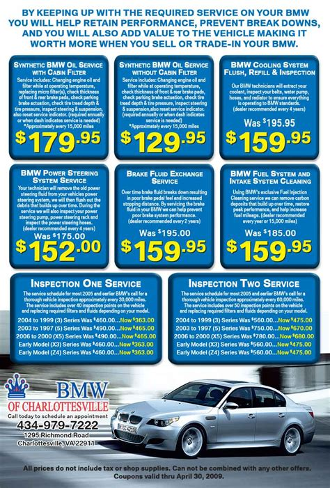 Bmw Service Coupons by Crown Bmw Charlottesville Service Specials