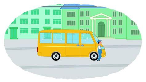imagenes transporte escolar animado 161 a colorear el transporte p 250 blico dibujos animados