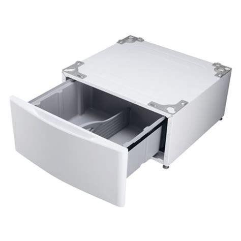 Lg Washer Pedestal lg quot wdp5w quot white laundry pedestal free shipping today overstock 15026062