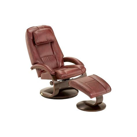 Top Recliner by Top Grain Leather Swivel Recliner With Ottoman Mac