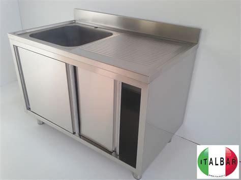 lavello in acciaio italbar banconi bar banchi frigo vetrine refrigerate