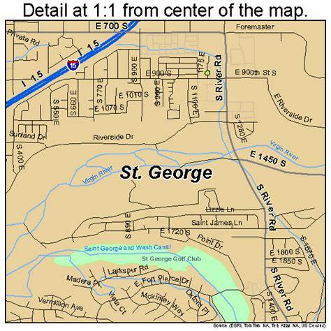 map of st george utah utah map images