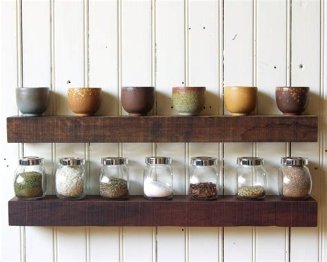 reclaimed wood floating shelves set of 2 by