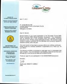 Rowan Mba Program by Document Certificate Of Appreciation Gloucester County Ems