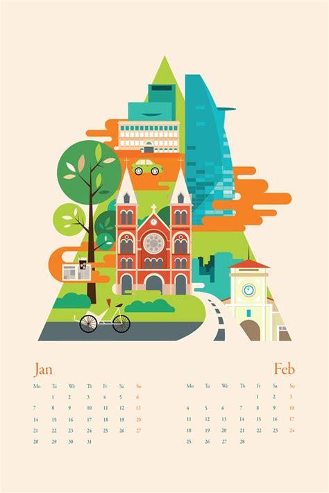 design calendar using illustrator calendar illustrations by tu bui