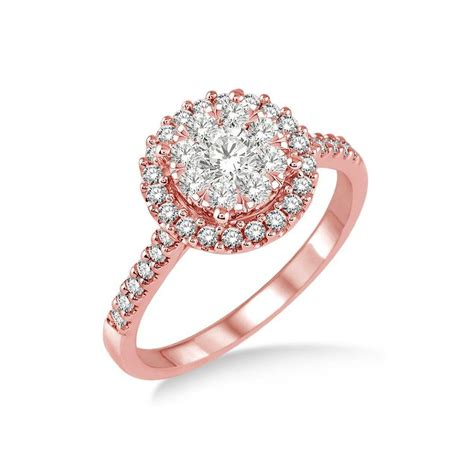 rose gold the gallery for gt flower engagement ring rose gold