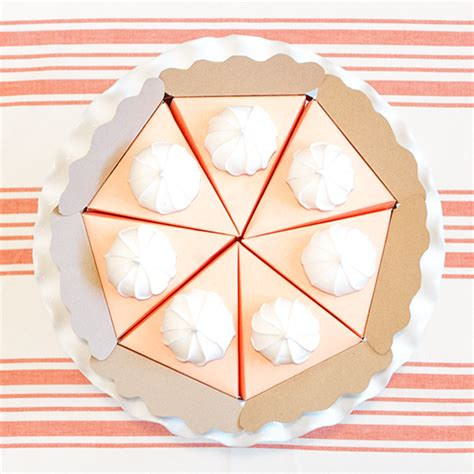 How To Make A Paper Pie - luck kisses cake the paper pumpkin pie