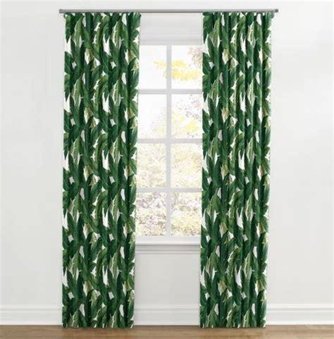 leaf print curtains banana leaf print curtains the hawaiian home