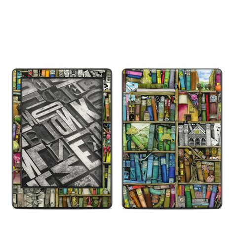 kindle 8th skin bookshelf by colin thompson