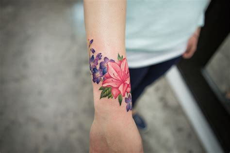 how bang bang mastered floral tattoos garden collage