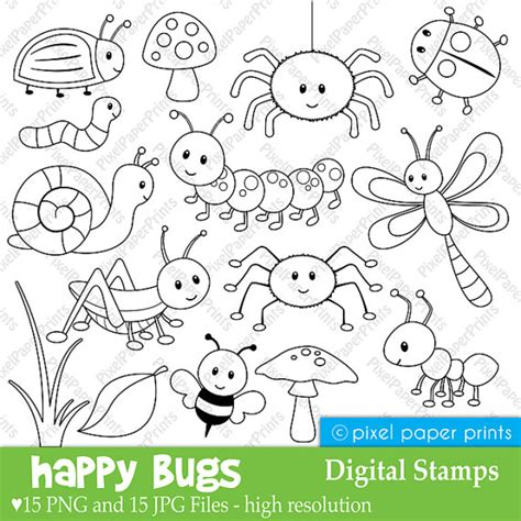 happy bugs digital sts by pixel paper prints catch
