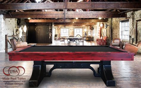 industrial pool table industrial pool tables vintagepool tables endeavor