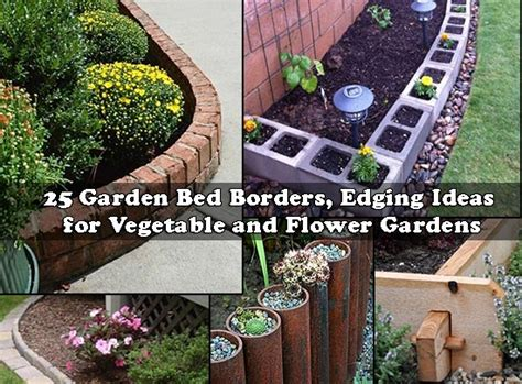 garden edging ideas for flower beds 25 garden bed borders edging ideas for vegetable and