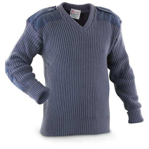 Sweater Blue Army u s style wool commando sweater blue 215551