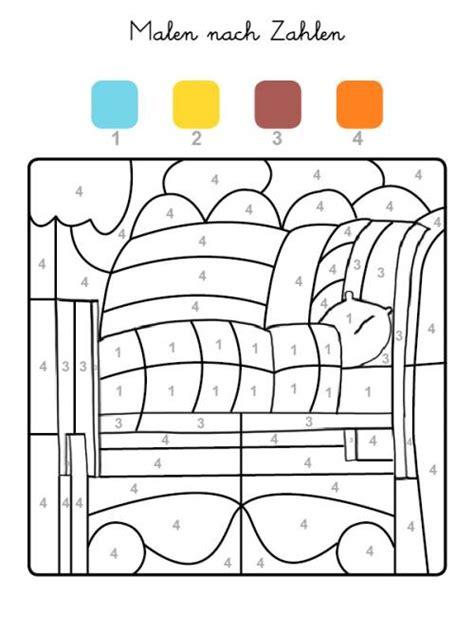bett malen kostenlose malvorlage malen nach zahlen bett ausmalen zum
