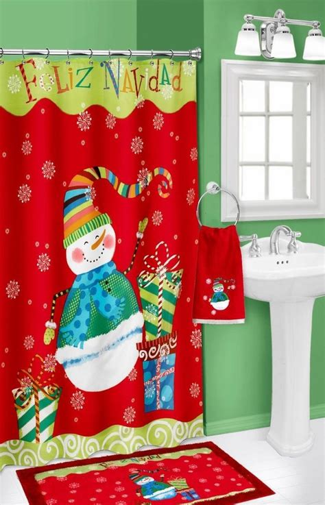 christmas shower curtains and towels 20 christmas shower curtains christmas spirit to make