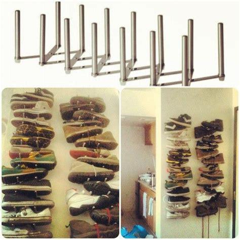 shoe storage from ikea organize pinterest small space shoe storage ikea variera pot lid organizer