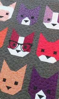 Patchwork Cat Pattern - 25 unique cat quilt patterns ideas on cat