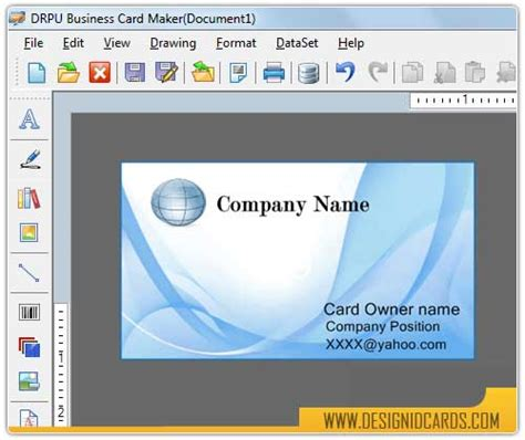 software to make cards free business card design by design id cards v 8