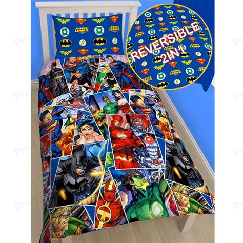 dc comics bedding justice league single duvet cover superman batman wonder