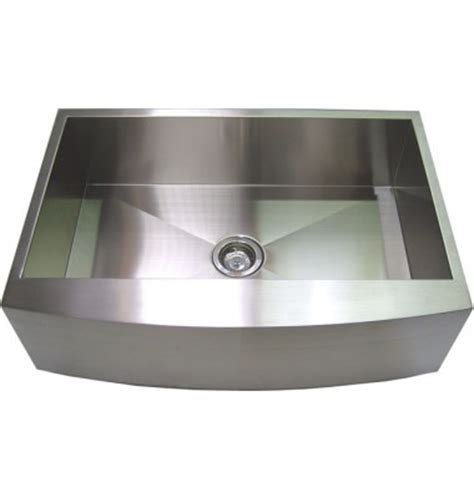 30 inch stainless steel single bowl curved front farm