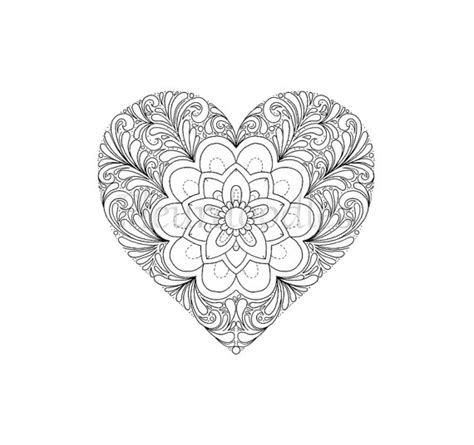 romantic mandala coloring pages coloring page heart printable download love colouring