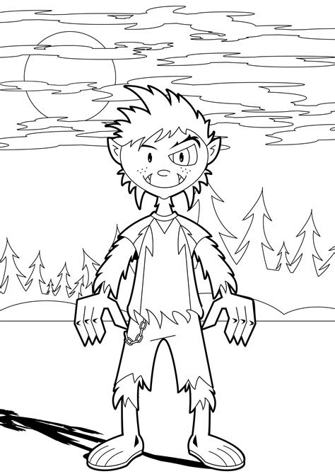 halloween coloring pages werewolf halloween coloring pages werewolf for kids hallowen