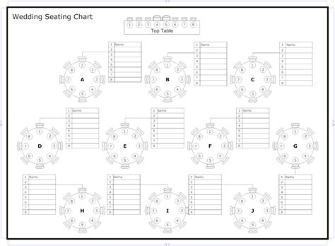 table seating chart template 10 person table seating chart template http
