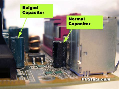 capacitor on laptop motherboard blown burst and leaking motherboard capacitors a serious problem pcstats