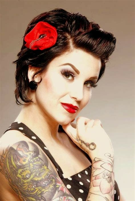cute black pin up hairstyles 1001 ideen f 252 r kurze rockabilly frisuren f 252 r frauen und