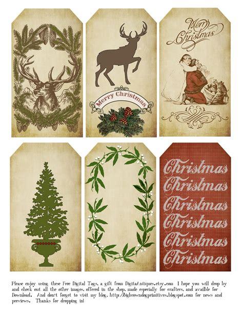 printable kris kringle tags big brown dog primitives free christmas tags for 2014