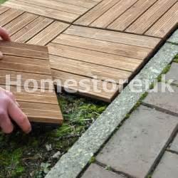 9x wooden floor deck tile slab set easy locked for garden