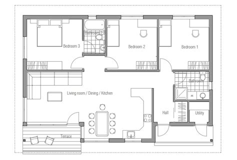 cheap home floor plans affordable home ch63 floor plans house design in