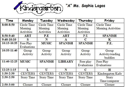 kindergarten timetable template mrs ricca39s kindergarten pumpkins unit freebie